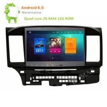 10.1 inch 8 Core Android 6.0 Car GPS Radio Player for Mitsubishi Lancer EVO Stereo Auto Radio Audio Head unit Support DAB+ DVR