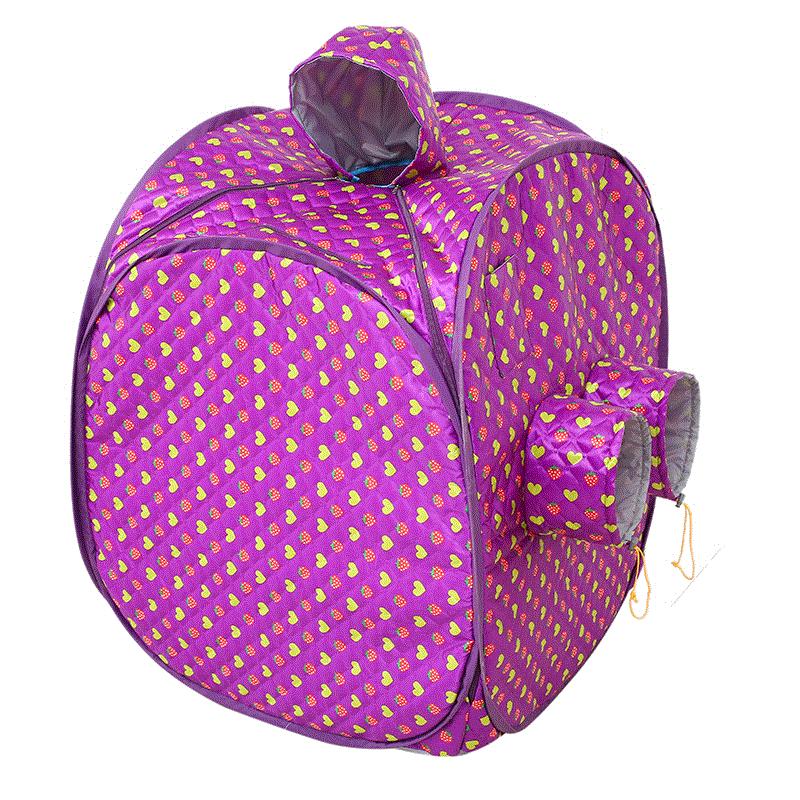 Cor azul portátil dobrável sauna a vapor caixa saune caso corpo