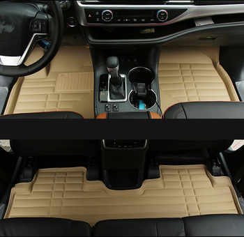 High quality mats! Special car floor mats for Toyota Highlander 7 seats 2019 waterproof durable carpets for Highlander 2018-2014