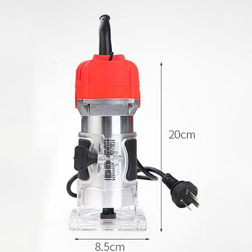 30000rpm 650W Wood Router Trimmer 6.35mm Copper Motor Electric Woodworking Hand Trimmer Engraving Machine Wood DIY Power Tool