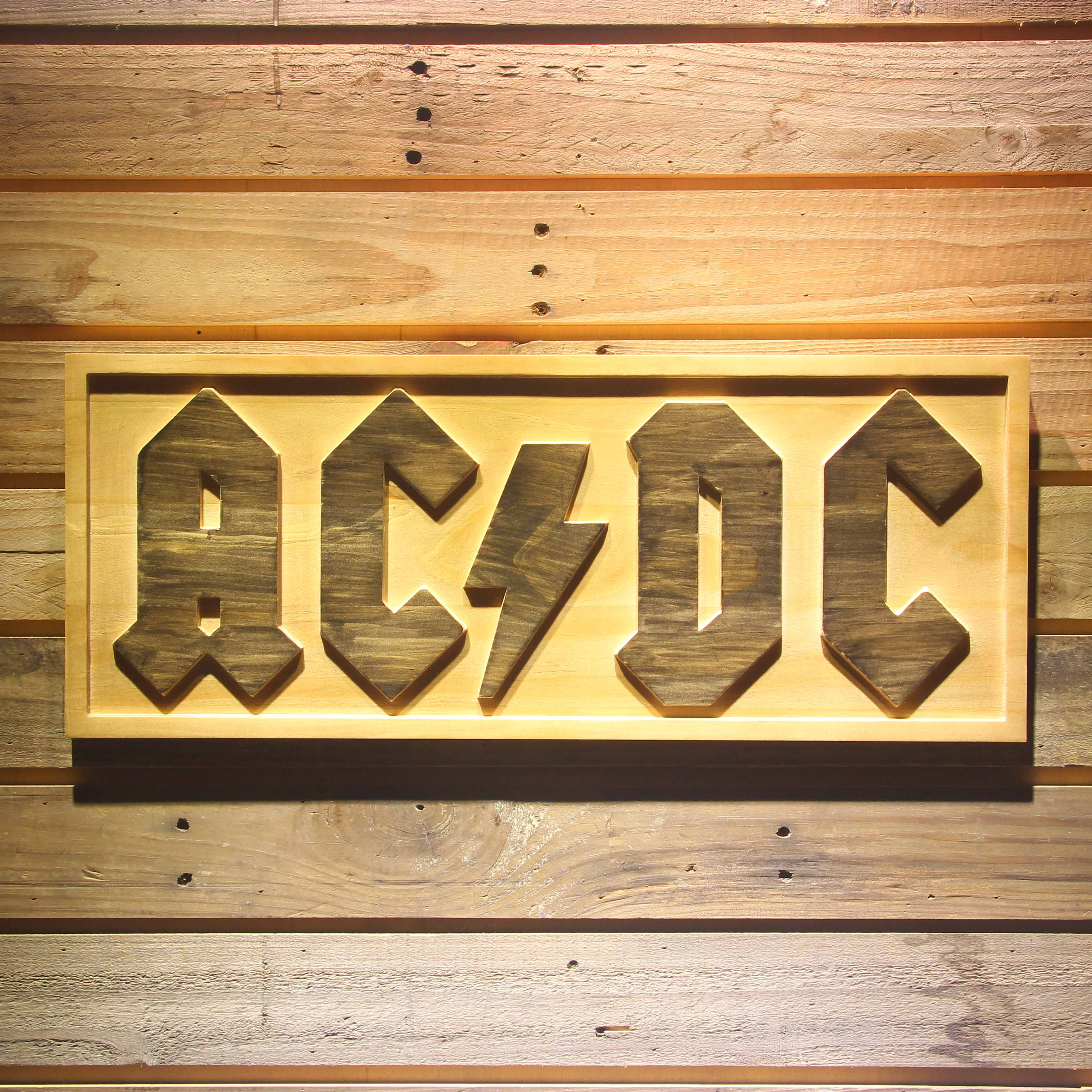 Signes de barre en bois 3D de bière de bande d'ac/CD d'acdc