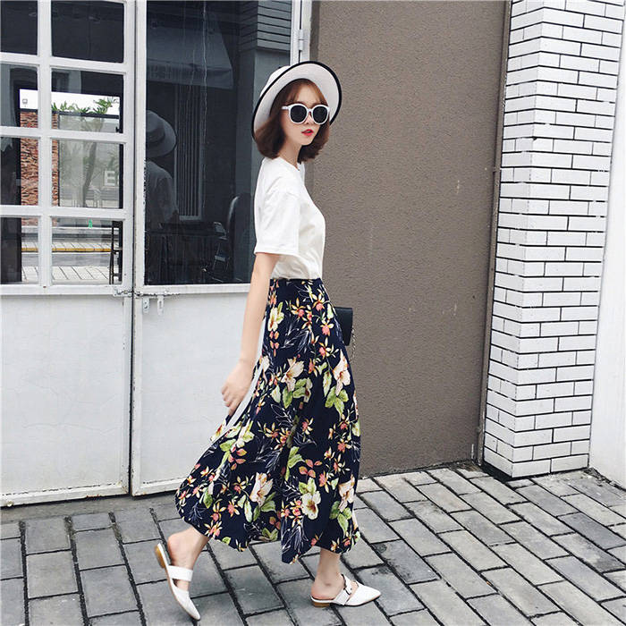 Boho Asymmetrical Chiffon Maxi Long Skirts 37