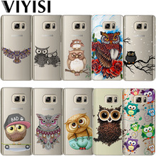 VIYISI Owl Animal Phone case For Samsung Galaxy s8 A5 2017 Case S9 Plus Cover J7 J5 J3 A3 2015 2016 S6 S7Edge Coque