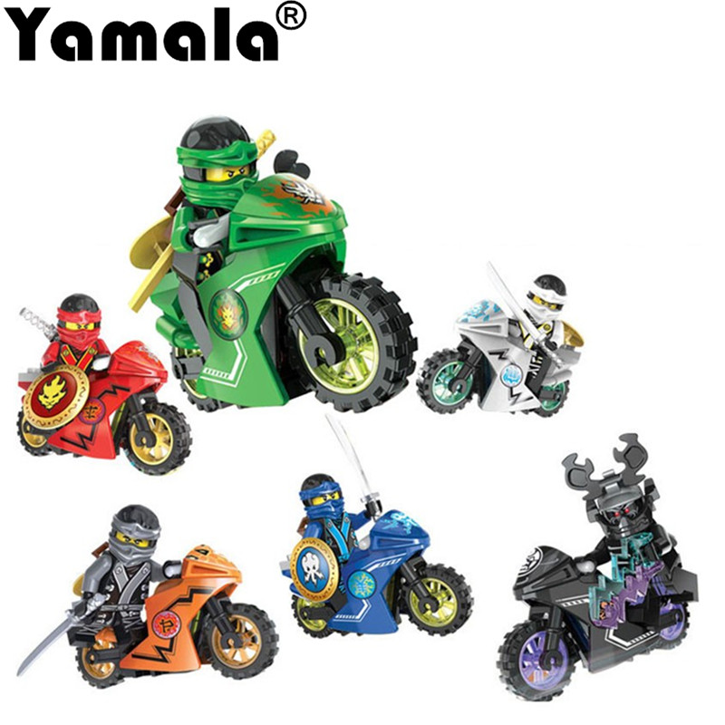 Yamala 258A Hot Ninja Motorcycle Compatible legoingly Ninjagoed Building font b Blocks b font Bricks