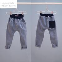 Children's clothing hot selling soft denim harem boy pants casual long trousers