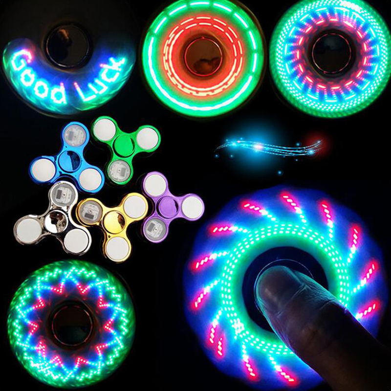 LED New Factory Direct Fingertip Gyro Glow Gyro Finger Toy Decompression Creative Children's Toys Multicolor Wholesale Student G