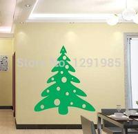 Vrolijk Kerstboom Venster muurstickers stickers Indoor ornament Xmas ambachten Poster kerstboom decoraties voor home