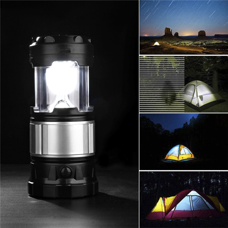 Portable LED Solar Torch Lantern Rechargeable Camping Hiking Outdoor Tent Lamp
