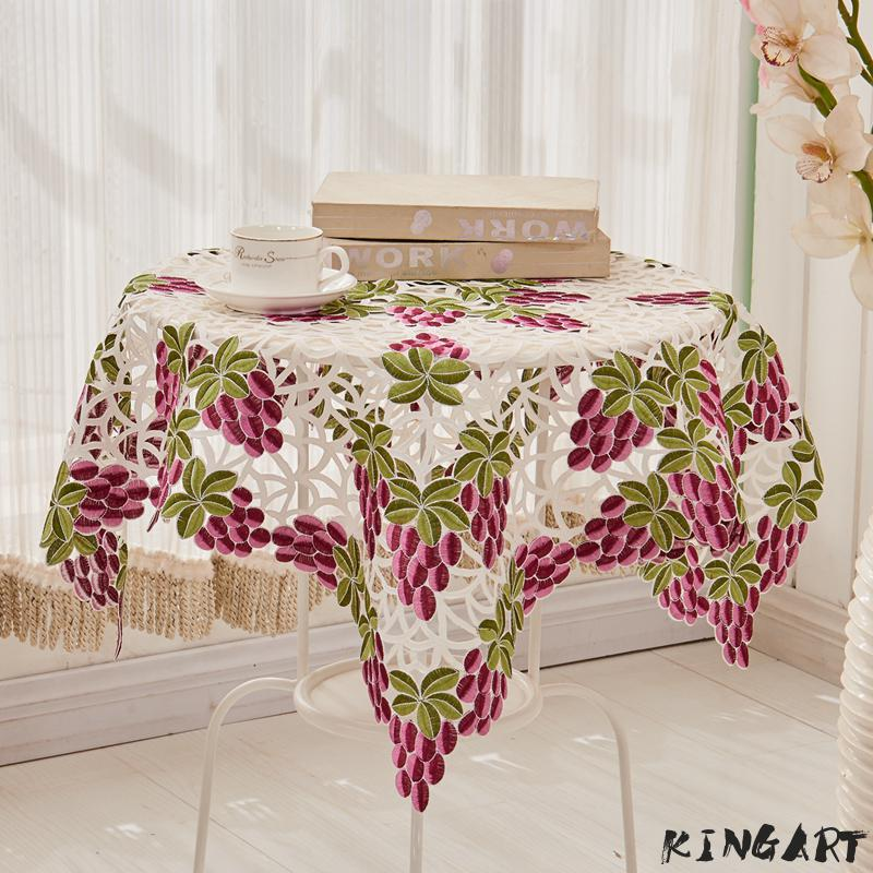 Wedding Embroidery Table Cloth Party Round Tablecloth Banquet Table Runner Square Tea Table & Bedside Side Mantel Table Cover