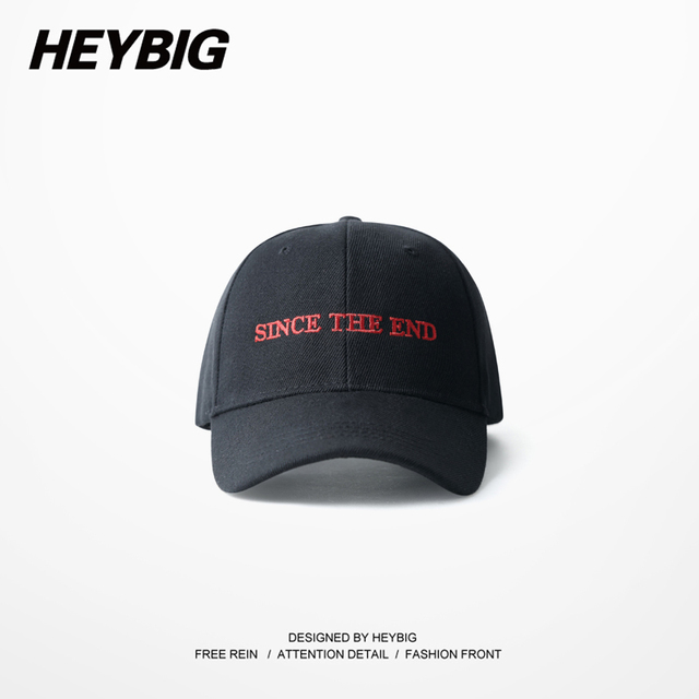 since the end Red letter embroidery hat 2017 new Spring baseball cap Curve Brim Dad cap