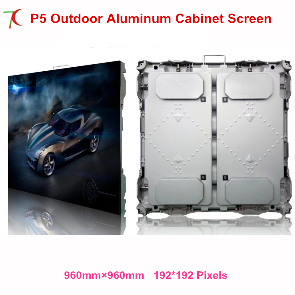 960*960mm P5 Outdoor  Waterproof Die-casting  Aluminium Equipment Cabinet Display,5500cd