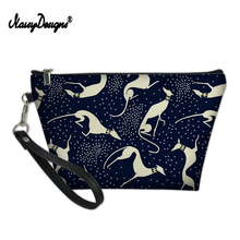 2019 Dot Greyhound Dog Women Cosmetic Bag Travel Make Up Bag