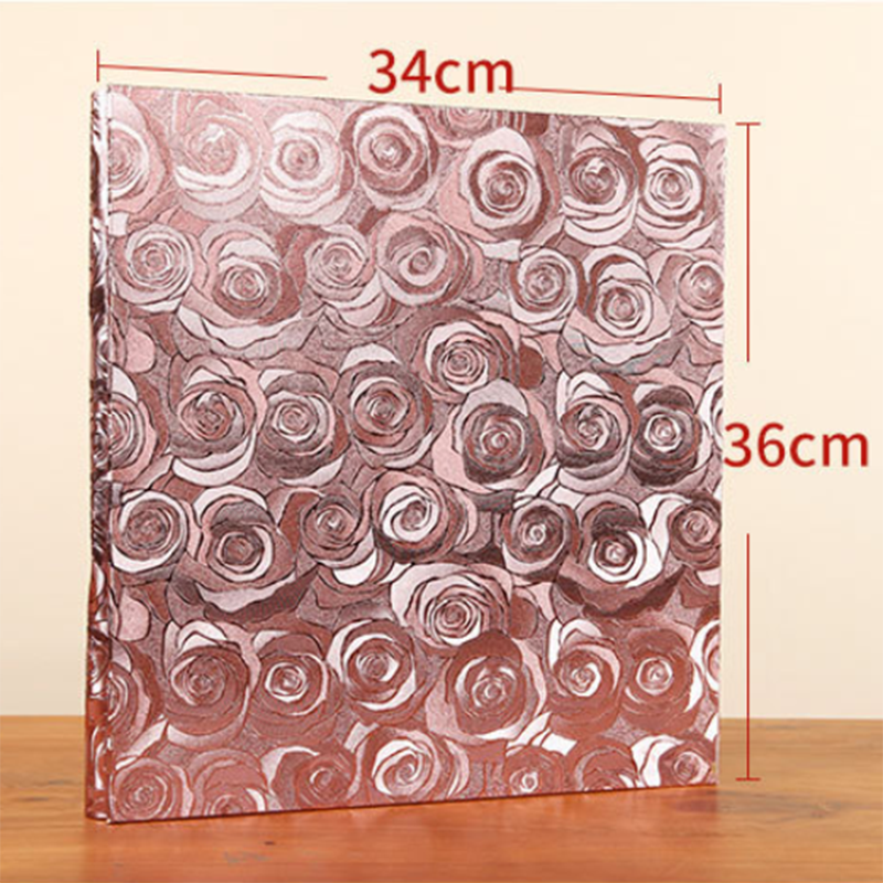New High Quality 600 Pockets PU Leather Photo Album Vintage Carved Handmade DIY Insert Scrapbook Photos