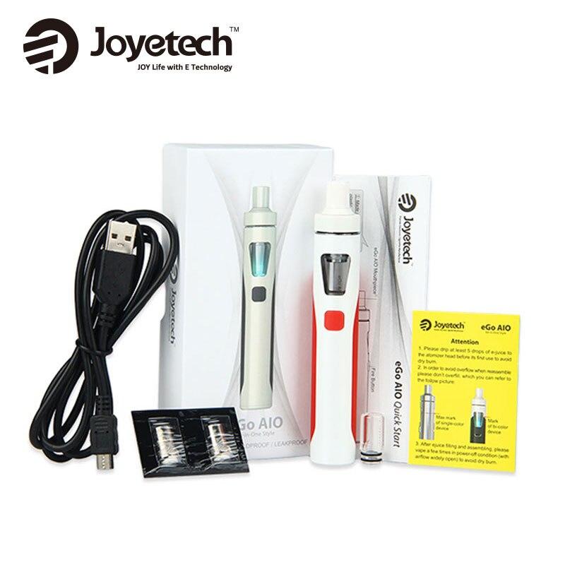 2 pièces d'origine Joyetech EGo AIO Kit 1500mAh batterie AIO tout en un vaporisateur de Cigarette électronique Ego Aio Kit de démarrage Kit de Vape-in Kits cigarette électronique from Electronique    1