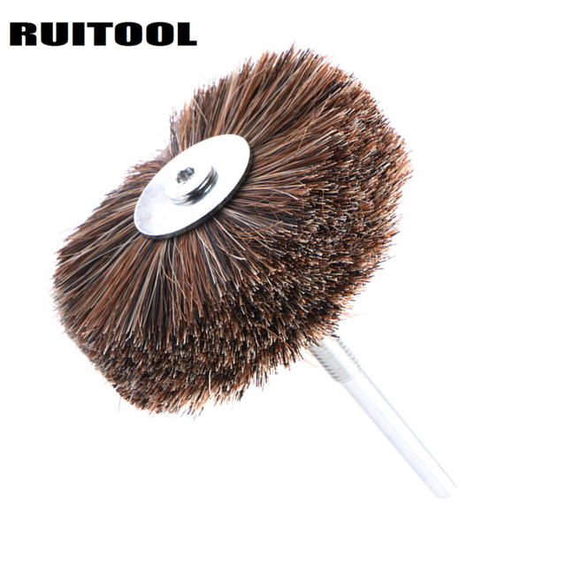 85*6mm Polishing Disc Horse Hair Grinding Wheel Wire Brush For Wood Carving Jewellery Polishing Abrasive Tools 1PC