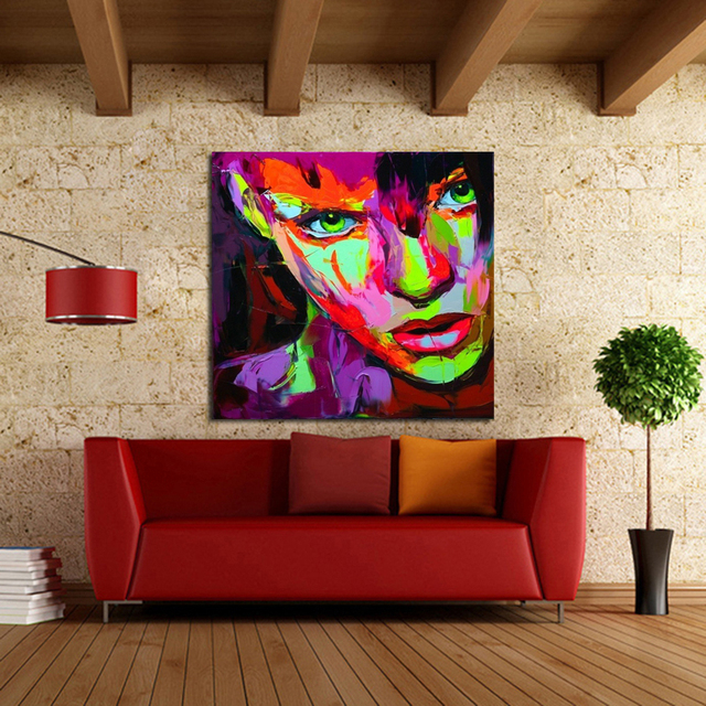 Free Shipping Handpainted Best Quality Modern Abstract Oil Painting Smart  Lady Portraits On Canvas Pictures Wall