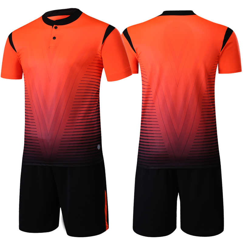 204ed7c0ae5 ... sporting soccer jersey Men/kids Soccer Suits Sets Adult button football  training jerseys suits custom ...