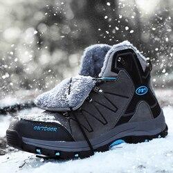 YIQITAZER Männer Stiefeletten Wildleder Leder Warme Winter Stiefel Outdoor Männer Schnee Stiefel Fashion Klettern männer Winter Schuhe