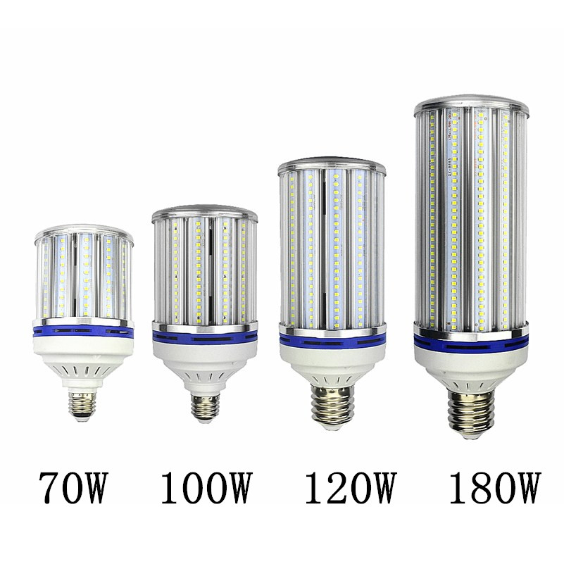 70W 100W 120W 180W LED Bulb Light E26 E27 E39 E40 street lighting High Bright 110V 220V Corn Lamp for Warehouse Engineer Square free shipping e26 e39 100w led corn bulb for post light fixture with etl listed