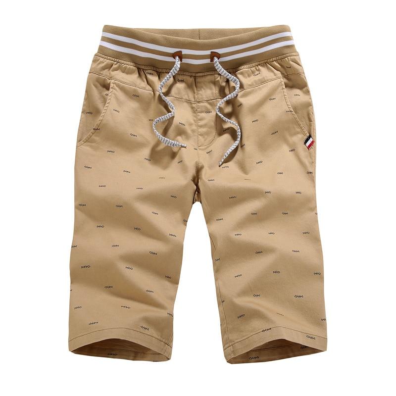 Men Shorts 2017 High Quality Men Cotton Shorts Summer Fashion Drawstring Stylish Printed Thin Casual Beach Shorts Men Short