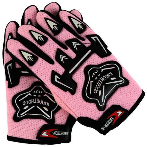 Гоночные перчатки для крутой молодежи/PEEWEE дети ATV мотокросс мотоцикл внедорожные MX DIRT BIKE перчатки гонки GUANTES - Цвет: Розовый