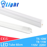 4Pcs Integrated LED Tube T5 T8 Light 11W 10W 220V 60cm Aluminum T5 Tube Lamp Warm