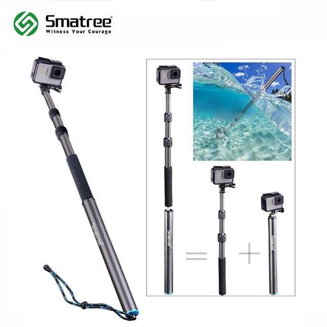 Smatree S3C Carbon Fiber Afneembare Uitschuifbare Drijvende Pole voor GoPro Hero 8/7/6/5/4 /GOPRO HERO 2018, voor DJI OSMO Actie Camera
