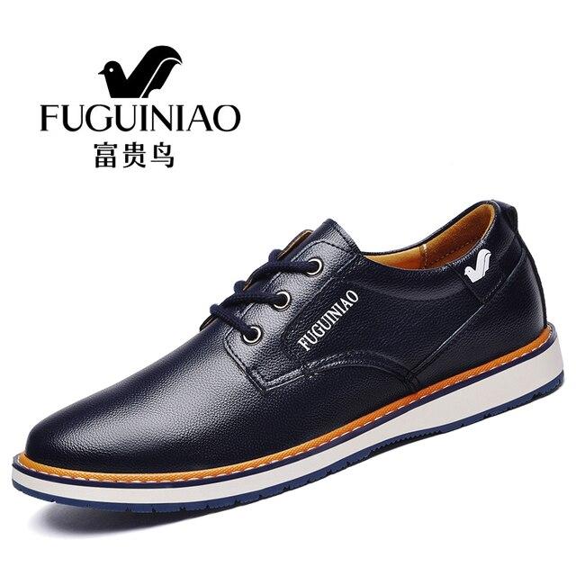a5b54d448c Marca de moda los hombres de cuero casual Zapatos lujo Hombre Zapatos  hombre vestido Zapatos superior