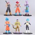 6PCS/SET Figma Super cute Seven Dragon Ball Sun Wukong The Money King clay Hand model Figure Doll Toys WJ358