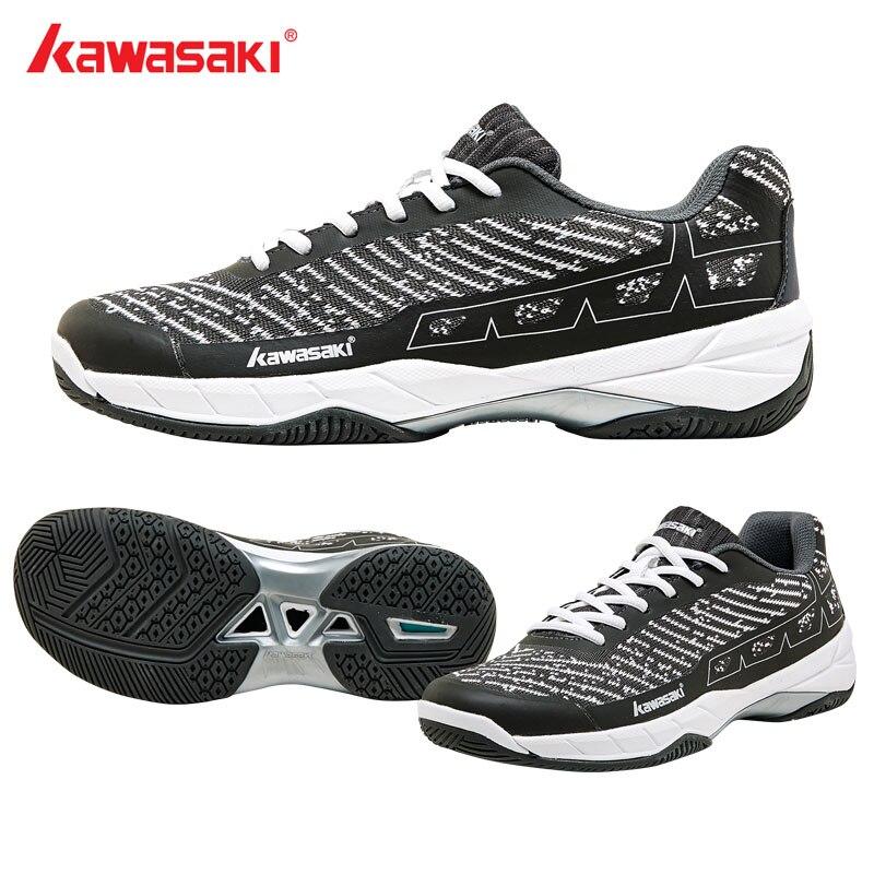 2019 nouvelles chaussures de Badminton de marque Kawasaki pour hommes respirant Anti-torsion résistance à l'usure en caoutchouc sport baskets femmes K-353