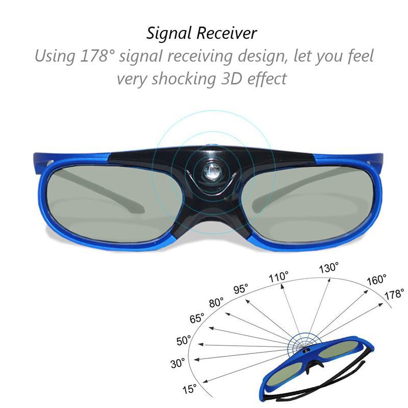 LEORY DLP Do Obturador Óculos 3D Link 3D Projetor Optoma Ativo 3 ... 1add859566