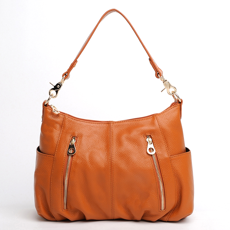 MCO Fashion Style Genuine Leather Women Shoulder Bag Handbags Tote Female Bag Casual Crossbody Messenger Bag Purses Ladies Bags 2018 new style genuine leather woman handbag vintage metal ring cloe shoulder bag ladies casual tote fashion chain crossbody bag