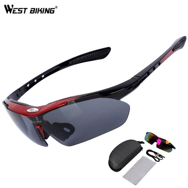 WEST BIKING Ciclismo Eyewear UV400 Proteção Óculos De Sol Das Mulheres Dos Homens de Bicicleta Óculos de Esportes Ao Ar Livre À Prova de Vento Mountain Bike Estrada