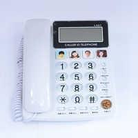 FSK/DTMF Caller ID Mani Libere Corder Telefono Telefono Fisso Senza Batteria Per Home Office Telefono Fixe Fijo Per Anziani bianco