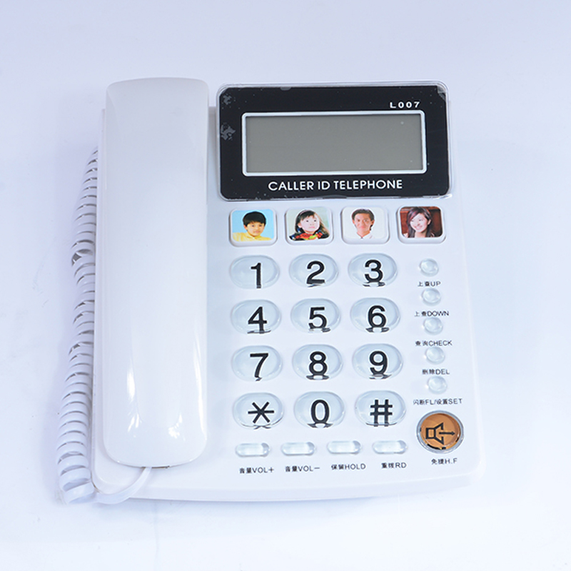 FSK/DTMF Caller ID Handfree Corder Telephone Fixe Landline Phone Without Battery For Home Office Telefono Fijo For Elderly White ...