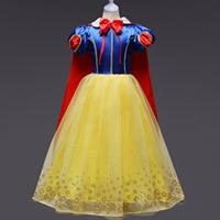 Princess Snow White Iron Gold Costume Girls Dresses Party Birthday Performance Kids Christmas Dress Children's Clothing