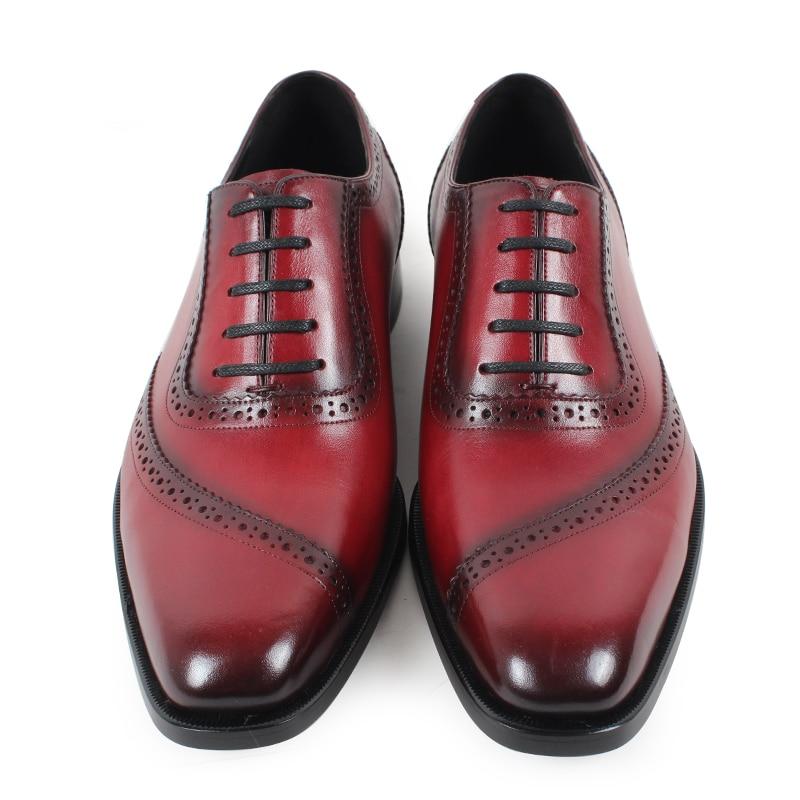 Sapato Macho green Homens Oxford Vestido Hombre Para Sapatos De Escritório Couro Calçado 2019 Genuíno Moda Red Sólida Zapato Do Noiva Vermelho Formal Vikeduo WxYw4q87BW