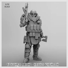 1/35 Resin Kits Vanguard Reloaded Commando Soldier (50-60mm) T35004