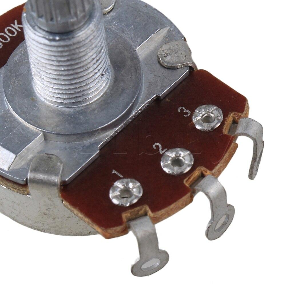 Yibuy 100x Chrome A500K bobine robinet guitare électrique basse potentiomètres 18mm arbre - 4