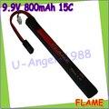 1 шт. 100% первоначально пламя 9.9 В 800 mAh 15C LiFePO4 при аккумулятор FLAME-POF4-03 AEG Airsoft аккумулятор M3E08M