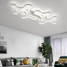 נברשת תאורה לסלון חדר שינה AC85 265V ענן זוהר עבור כניסת מסדרון מעבר מודרני LED זוהר נברשת