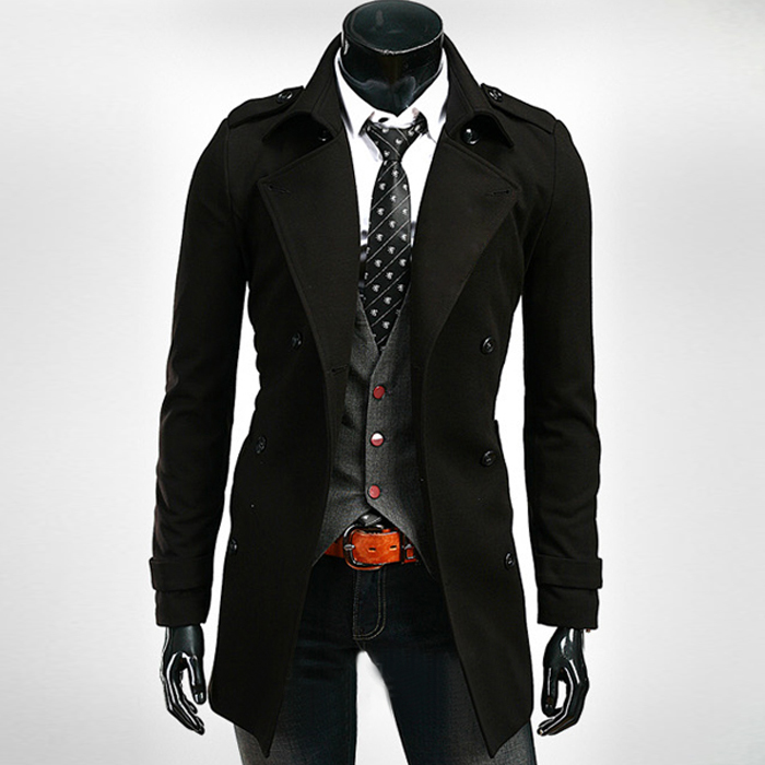 Black Trench Coats Men - Tradingbasis