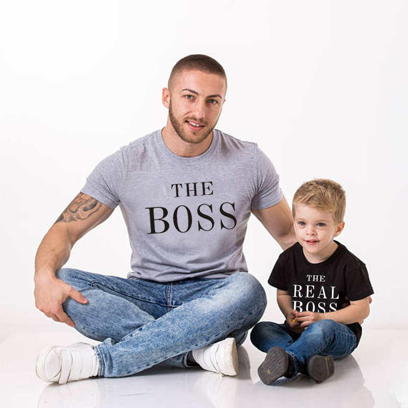 The Boss The Real Boss Baby Bodysuit Family Matching T-shirt Kids Clothing Men Women Top Tee