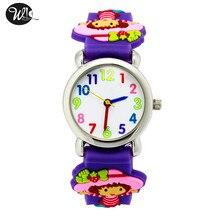 Детские часы 3D ремень с рисунком для мальчиков и девочек с клубникой Для Девочек Кварцевые Часы Указатель Электронный Водонепроницаемый часы ребенку подарок часы