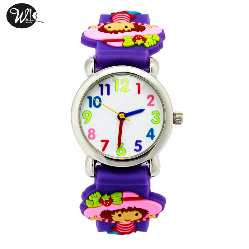 Permalink to Children's Watch 3D Strap Cartoon Boy Girl Strawberry Girl Quartz Watch Pointer Electronic Waterproof Watch Child Gift Watch