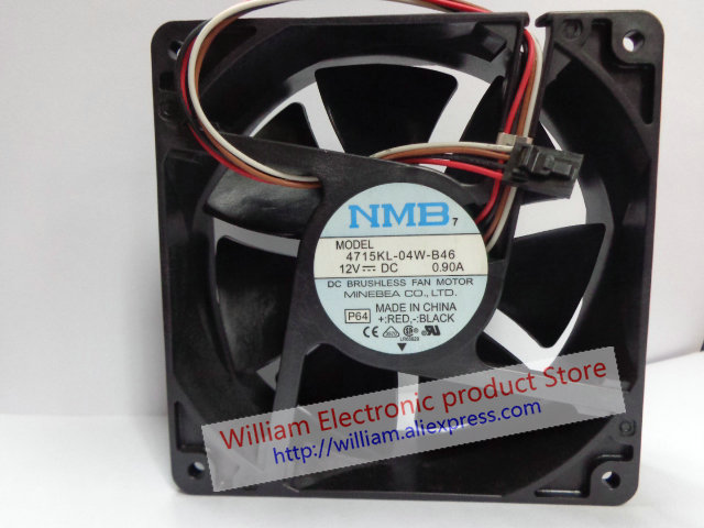 New Original NMB 4715KL-04W-B46 P64 12V 0.90A 12CM 120*120*38MM for Dell Computer cooling fan