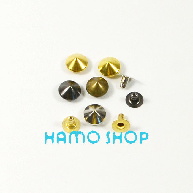 80609578f743 50 unids lote metal del remache del cono studs moda cuero DIY punk ropa  Cooper Brass12mm color de la mezcla del envío libre