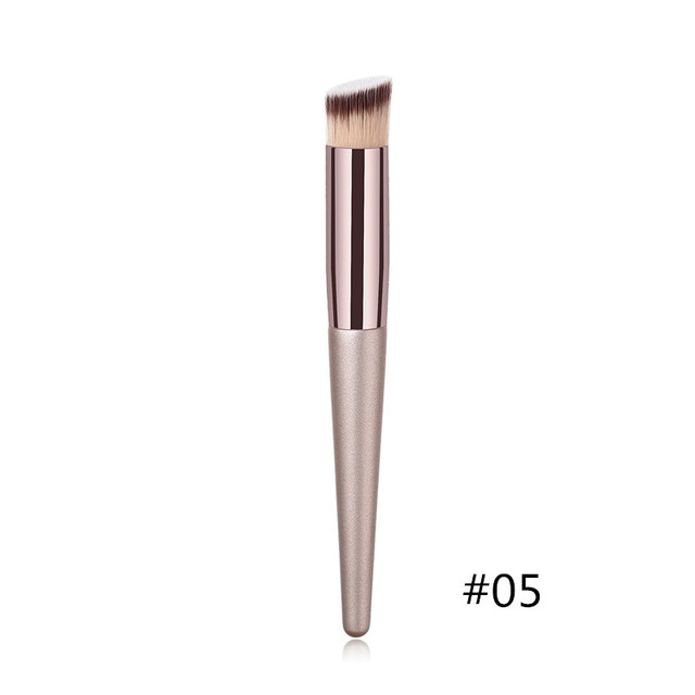 1PC Foundation Makeup Brush Coffee Handle Professional Facial Powder Eyeshadow Blush Eyebrow Lip Brush Large Soft Cosmetic Brush 5