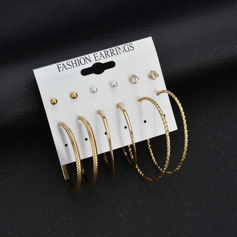 Fashion Earrings Ear Ring Set Combination Of 6 Sets Jewelries Classical Bijoux Beautiful Earrings For Women Oorbellen Pendientes