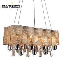 Винтаж люстра Европейский роскошные современные освещения светодиодный K9 прямоугольные современный хрустальная люстра для столовой свет